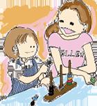 親子で遊ぶイラスト